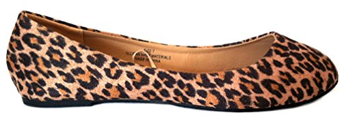 Chaussures8teen Chaussures 18 Ballerine Femme Ballet Chaussures Plates Solides & Léopards ... Leopard Micro