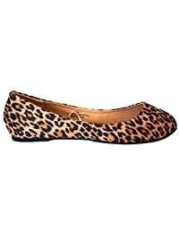 Shoes8teen Womens MicroSuede Basic Ballet Flat