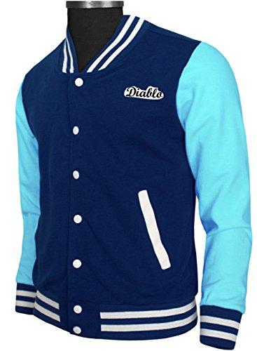 OBX Mens Blue Tox Varsity Jacket for Diablo Fans (X-Small) -