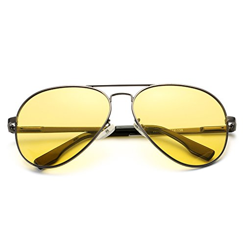 d192c7685f1235 Aviator Sunglasses for Men Women Polarized Mirrored Lens UV 400 with Case  Gunmetal Night Vision Glasses - marriage2go.com