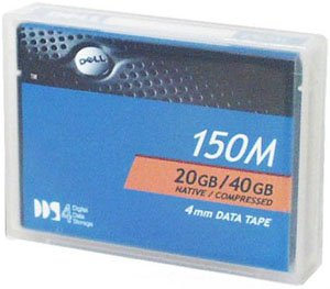 Dell DAT 4mm 20 GB Native / 40 GB Compressed 150m DDS4 Backup Tape Media by Dell