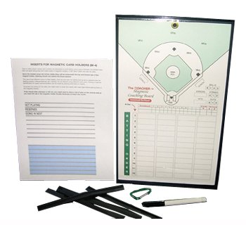 The Coacher Company Deluxe Magnetic Board for Baseball/Softball