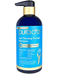 PURA D'OR Hair Thinning Therapy Shampoo, Infused with Organic Argan Oil, Biotin & Natural Ingredients, 16 Fl Oz (Packaging may vary)