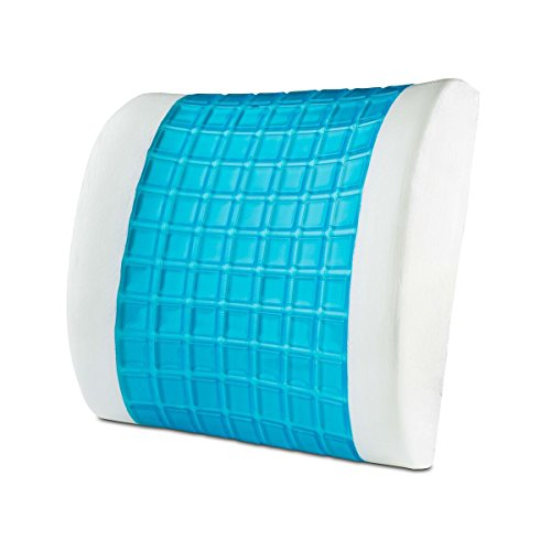 Modernhome Cooling-Gel Memory Foam Lumbar Pillow, White