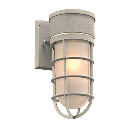 plc lighting 8050sl 1-Light jaula colección al aire última intervensión Fixture, acabado plateado
