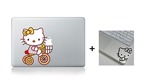 Hello kitty Cat Laptop Macbook decal sticker for Air Pro MAC 11 13 15 17 inch
