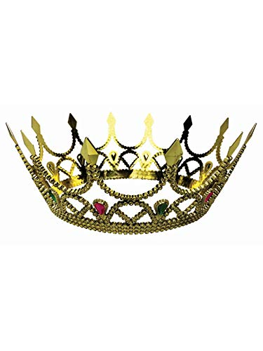 Forum Novelties 76046 Royal Queen Crown, Standard, One Size, Gold