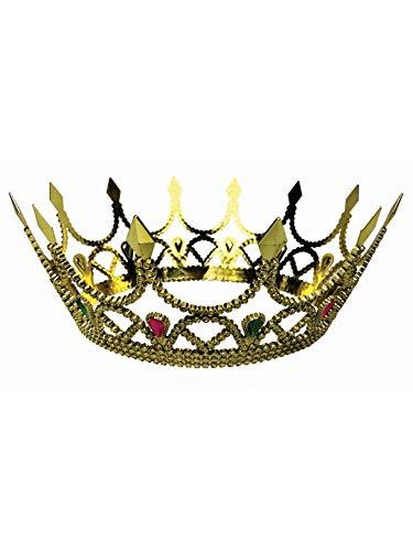 Forum Novelties 76046 Royal Queen Crown, Standard, One Size, Gold -