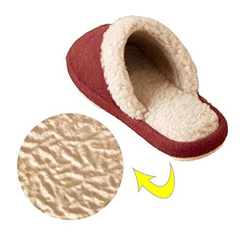 Comolife Schattige Kattenwarme Pantoffels 2 Paar, Rood & Groen, 22,5-25cm, Us Maat: Dames / 6-9, Heren / 4-7