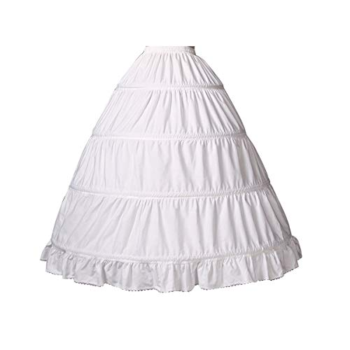 BEAUTELICATE Girls Petticoat 100% Cotton Crinoline Underskirt for Kids Flower Dress Slips Style1 37