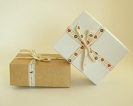 Pack de 10 x cajas de regalo automontables (código C) caja de regalo cartulina