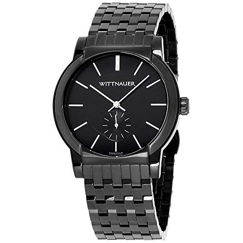Wittnauer Mens WN3043 22mm Stainless Steel Black Watch Bracelet