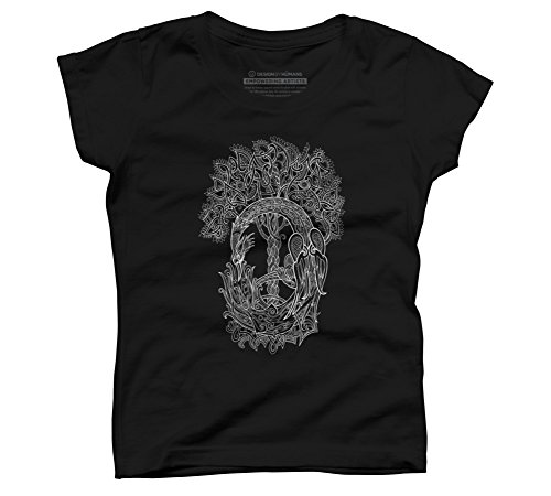 Price comparison product image The Phoenix Bird and The Tree of Girl's X-Large Black Youth Graphic T Shirt