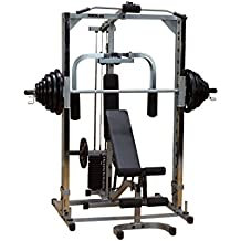 PSM1442XS Powerline Smith Gym with Lat Row Station and Pec Attachment