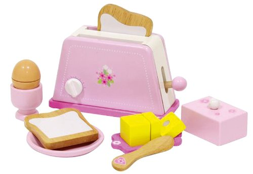 Holz Kinder Toaster in Rosa