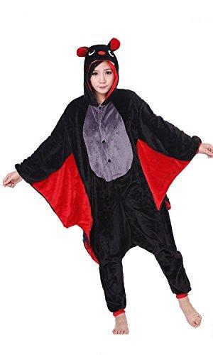 WOTOGOLD Animal Cosplay Costume Bat Unisex Adult Pajamas Black]()