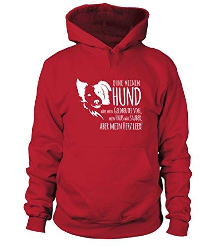 IchLiebeHunde.com - Sudadera con capucha - para mujer rojo XL