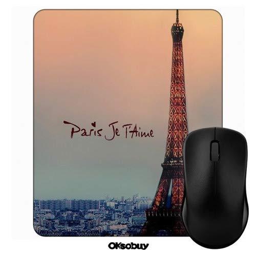 Eiffel Paris Je T'Aime Mouse Pad Oksobuy Custom Design,European City Landscape Mouse pad Gaming Mousepad Nonslip Rubber Backing