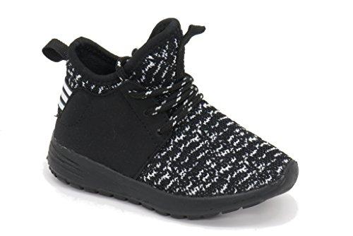 Blue Berry EASY21 Damen und Kinder Breathable Fashion Sneakers Casual Slip-on Loafers Sportschuhe Sportschuhe Schwarz / Weiß / Schwarz-50