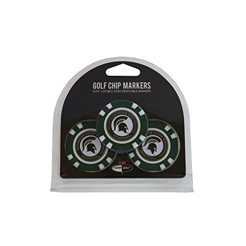 (3 Pack Poker Chip Michigan State University Golf Ball Markers)