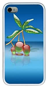 3d Cute Plant TPU White Case for iphone 4S/4 by runtopwell