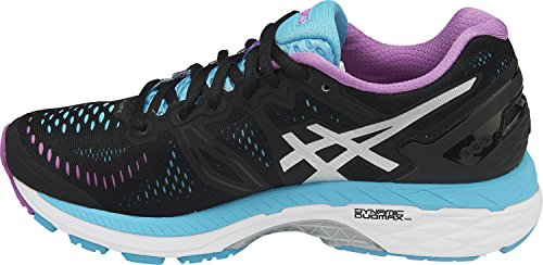 Price comparison product image ASICS Womens Gel-Kayano 23 Running Shoe,  Onyx / Silver / Aquarium,  9.5 B(M) US