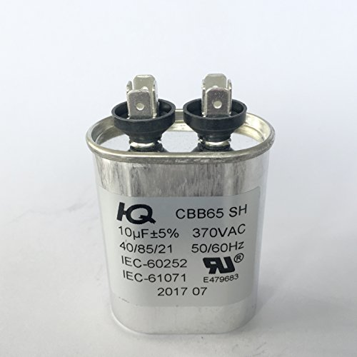 Oval Run Capacitor - QX6510 Capacitor Motor Run Oval 10 uF MFD 370V