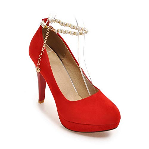 Rouge Plateforme EU 36 Red 1TO9 Femme 5 MMS06283 wPqH87nF