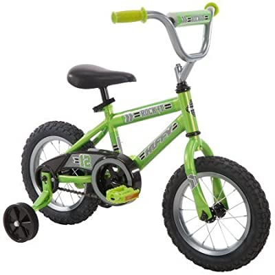 "12"" Fully Decorated with a Fun Pattern, Racing-style, Safe for Kids, Huffy Rock It Boys' Bike"