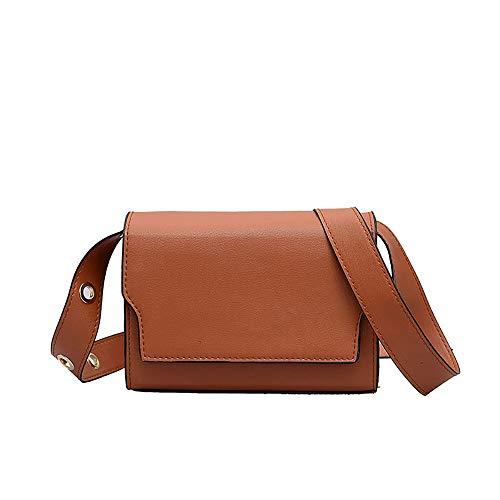 Women Retro Shoulder Bag Wide Shoulder Strap Versatile Messenger Bag ()
