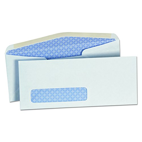Universal 35203 Security Tinted Window Business Envelope, 10, 4 1/8 x 9 1/2, White (Box of 500)