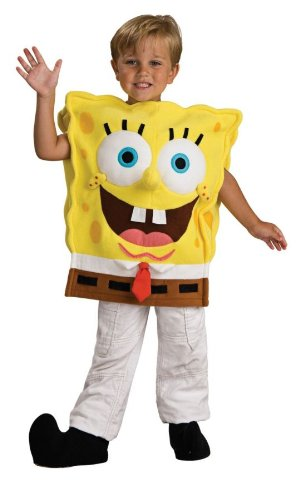 Spongebob Characters Costumes (Child's Spongebob Squarepants Costume, Toddler)