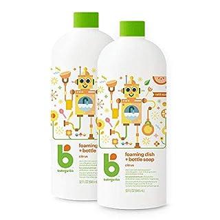 Babyganics Foaming Dish & Bottle Soap , Citrus, 32oz, 2 Pack, Packaging May Vary