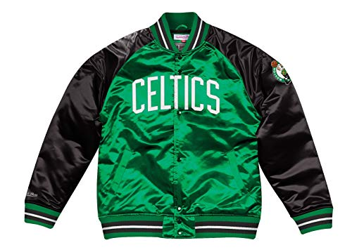 Mitchell & Ness Boston Celtics NBA Tough Season' Retro Satin Jacket Men's (Boston Celtics Snap)
