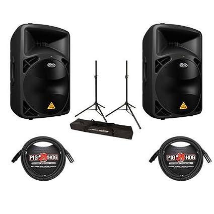 Amazon.com: Behringer 2-Pack EUROLIVE b615d Active 1500 W PA ...
