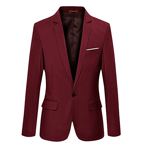 VOBAGA+Men%27s+Slim+Fit+Casual+One+Button+Suit+Blazers+Wine+Red+5XL