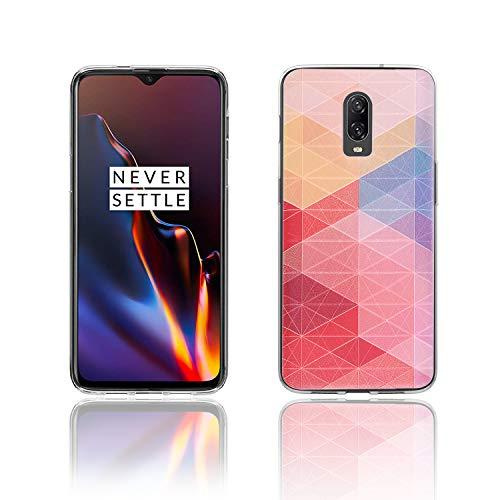(OnePlus 6T Case, KTTWO [Lightweight] [Shockproof] [Drop Protection] Special 3D Relief Printing Pattern Design Silicone Soft TPU Cover Case for OnePlus 6T Case (Colored Plaid))