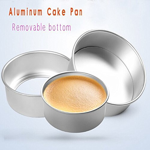 Creative 8 Inch Round Aluminum Mold Pan for Cake Chocolate Fondant Mousse Baking Biscuit DIY Cookies Soap Ice Cube Tray Decorating Tools ( Pack of 2 )