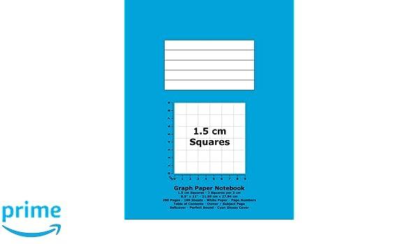 graph paper notebook 1 5 cm squares 8 5 x 11 21 59 cm x 27 94