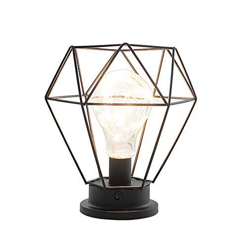Lámparas de mesa Vintage,Lámparas LED de mesa Diseno Diamante, Luz de noche decorativa,Ilumnacion adorno para Casa, Habitacion, oficina