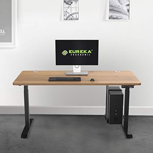 Eureka Ergonomic Computer Cart Height-Adjustable Mobile CPU Stand Suitable for Standing Desk Converters Black by Eureka Ergonomic (Image #5)