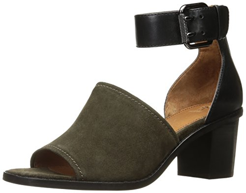 FRYE Women Brielle Ankle Strap Platform Sandal Fatigue Soft Oiled Suede