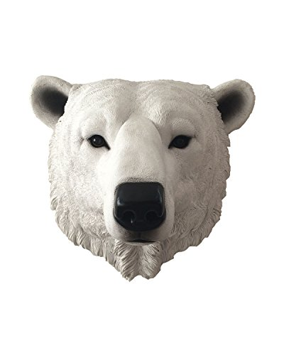 (ih casa décor Polyresin Lord of The Artic Polar Bear Head, 14.5