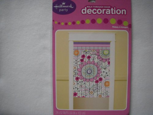 Flowery Walk-Through Door Decoration (Door Banner Walk Through)