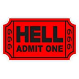 Ticket To Hell Hard Hat Sticker | Helmet Decal Label Lunch Tool Box 666 Motorcycle