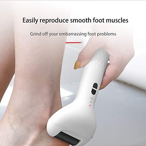 EKUPUZ Portable Electric Feet Callus Removers Rechargeable Foot Grinder Peeling Waterproof Foot File Pedicure Device Calluses Digital Display Exfoliating Artifact USB Charging Feet Care