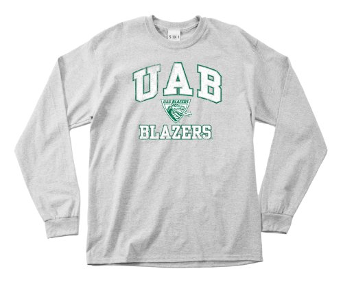 (NCAA Alabama Birmingham Blazers 100-Percent Pre-Shrunk Vintage Mascot Long Sleeve Tee, X-Large, Sport)