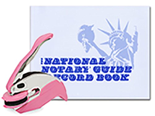 Breast Cancer Awareness Trodat Ideal Notary Seal Embosser; Notary Journal Bundle | Iowa ()