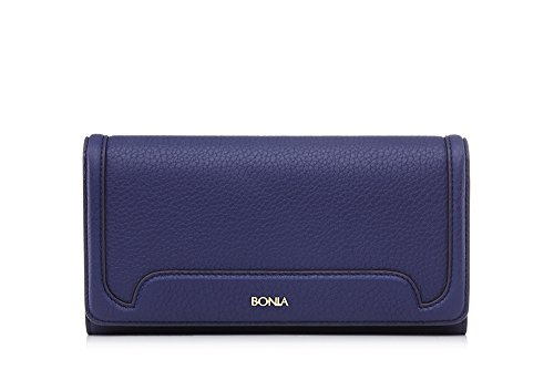 bonia-womans-blue-tassel-two-fold-wallet