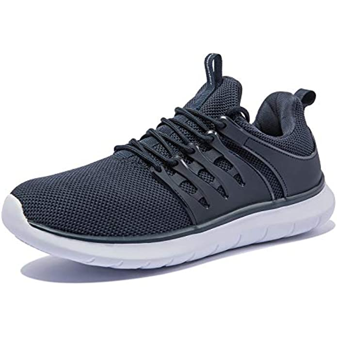 NewDenBer Men's Lightweight Sneakers Comfortable Athletic Walking Running Tennis Shoes